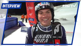 Alex Vinatzer festeggia il 3° posto a Zagabria