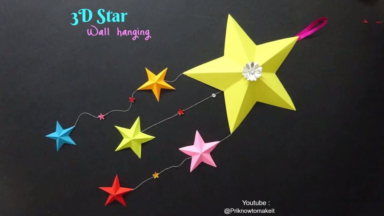 How to Make A Twisted Paper Christmas Star (Snowflake Crafts) : HD ...   720x1280