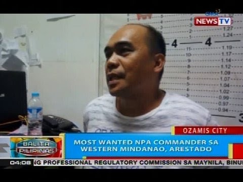 BP: Most wanted NPA commander sa Western Mindanao, arestado