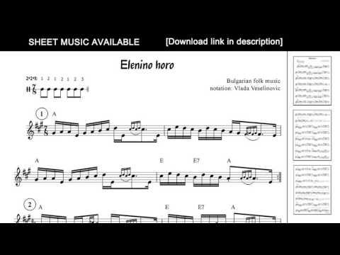 Elenino horo - Bulgarian folk music [Sheet Music Available]