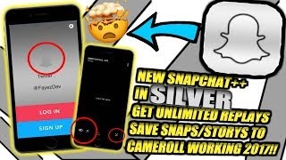 NEW SNAPCHAT++ UPDATED IN SILVER!!! EVERYTHING IS SILVER!! UNLIMITED REPLAYS!!SAVE TO CAMERAROLL!!