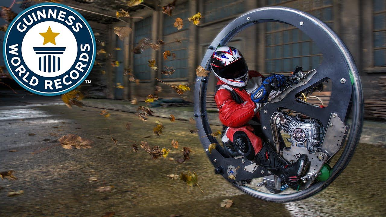 Fastest Monowheel Motorcycle Meet The Record Breakers