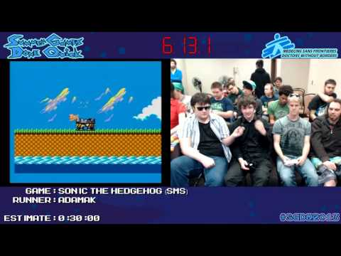 Sonic The Hedgehog :: SPEED RUN (0:18:27) *Live at #SGDQ 2013* [Master System]