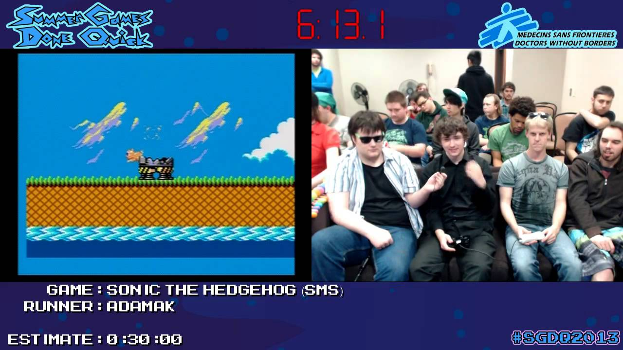 Sonic The Hedgehog Speed Run 0 18 27 Live At Sgdq 2013 Master System