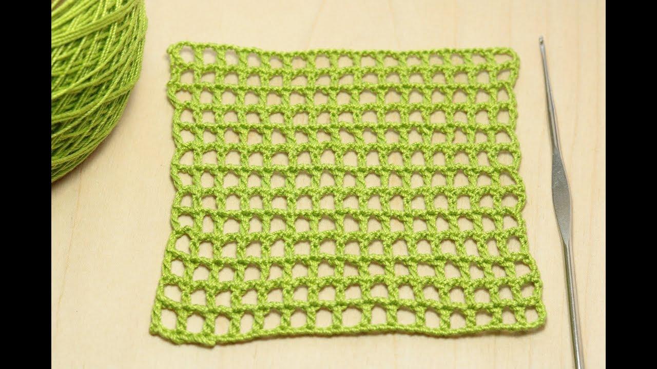 Вязание филейной сеточки - мастер класс для начинающих вязание крючком  How to Crochet for Beginners