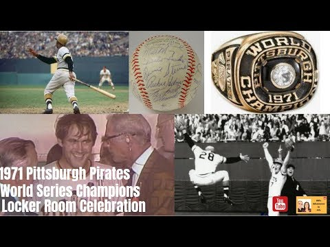 1971 Pittsburgh Pirates World Series Locker Room Celebration