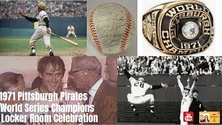 1971 Pittsburgh Pirates World Series Locker Room Celebration