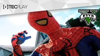 Pagando de Homem-Aranha em GTA V PC - MOD Native Trainer