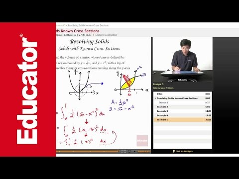 AP Calculus AB: Revolving Solids Known Cross Sections