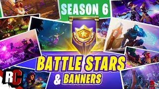 Fortnite ALL 10 ★ SECRET BATTLE STAR/BANNER Locations in Season 6
