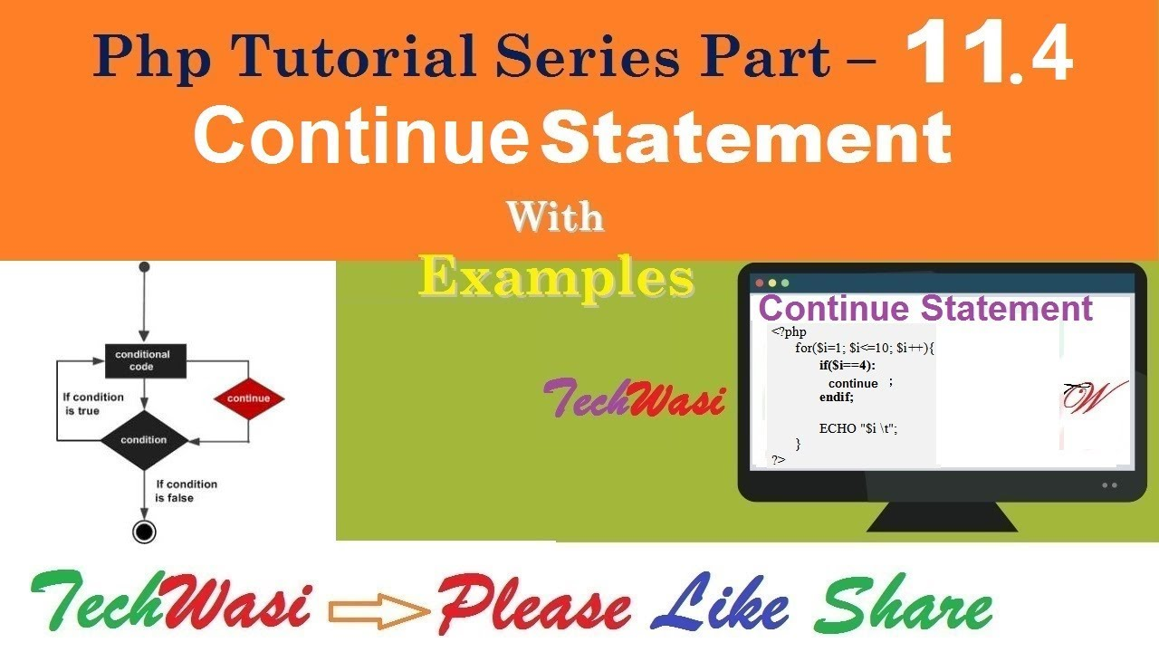Continue Statement In Php