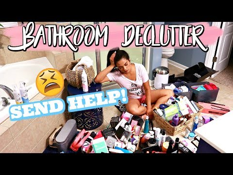MAJOR BATHROOM DECLUTTER!