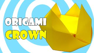 Easy Paper Origami Crown Instructions