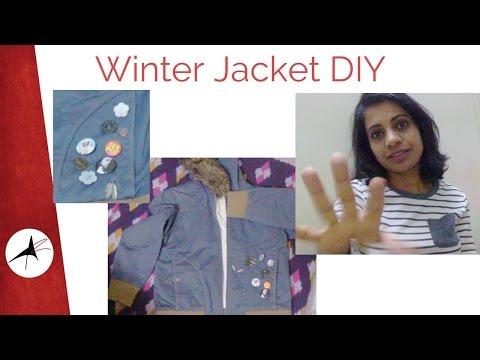 DIY: Winter Jacket Revamp With Pins & Badges   Very Easy   Arpitha Rai