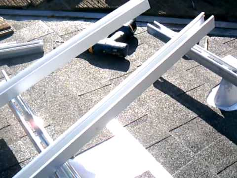 10 Racking Sloped Roof Unistrut Base Rail Onto Prosolar