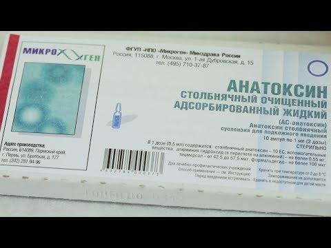 Противостолбнячная прививка болит