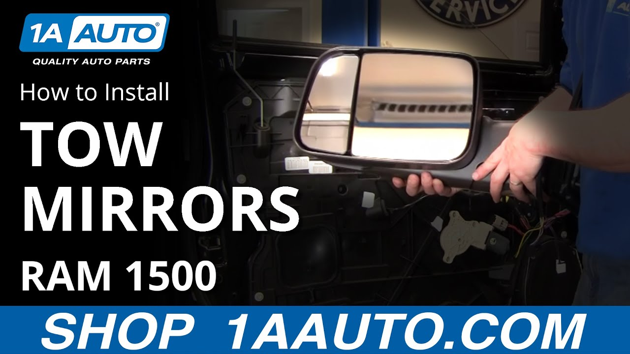 How to Install Tow Mirrors 09-10 Dodge Ram 1500 Part 1