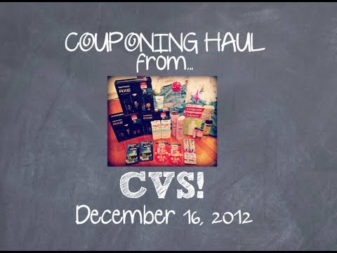 12/16/12...CVS Coupon Haul! $152 worth of loot for $5.98! :)