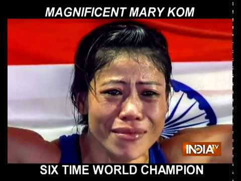 Mary Kom becomes 1st woman boxer to win six gold medals