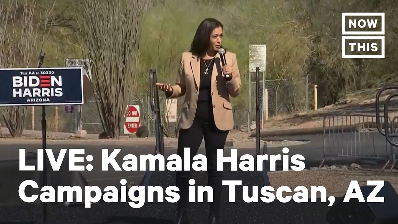 Kamala Harris Campaigns In Tuscon Az Live Nowthis Youtube