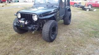 35's on the Jeep TJ!!!!!!! Stock axles and 3.73's. What could go wrong?