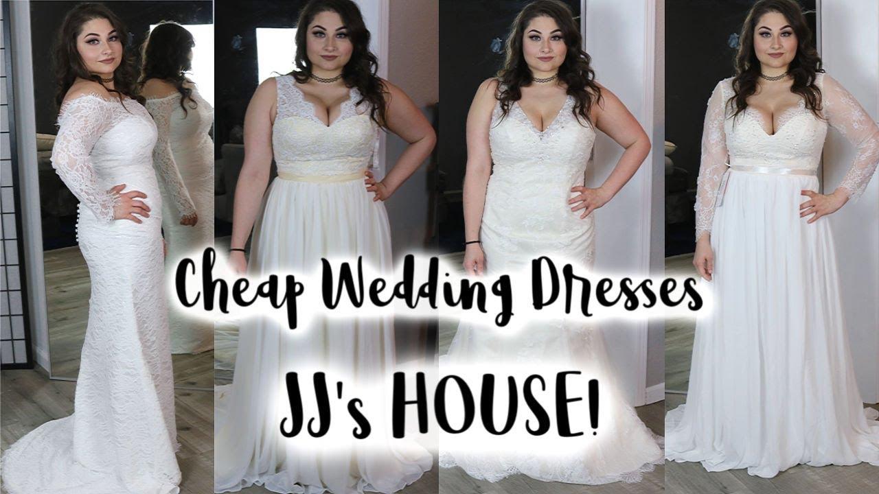 Affordable Wedding Dresses Jjshouse Wedding Dress Review Wedding Dress Try On Youtube