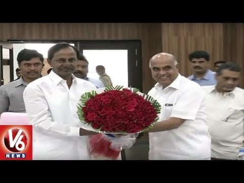 CM KCR Holds Review Meet With Electricity Department Officials In Pragathi Bhavan | V6 News