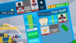 ROBLOX con mis amigos [noob simulador de golpes] + 2 códigos para principiantes!