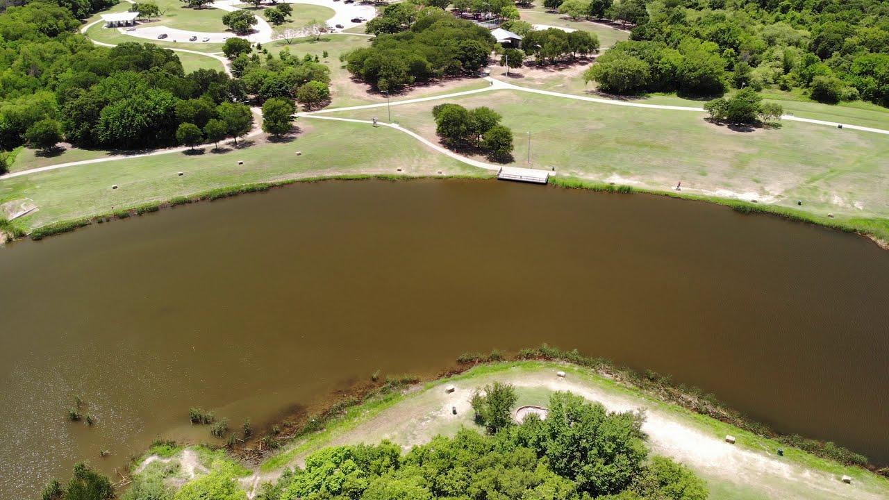Eureka Park, Denton, TX - Southern Pond Aerial Video - YouTube