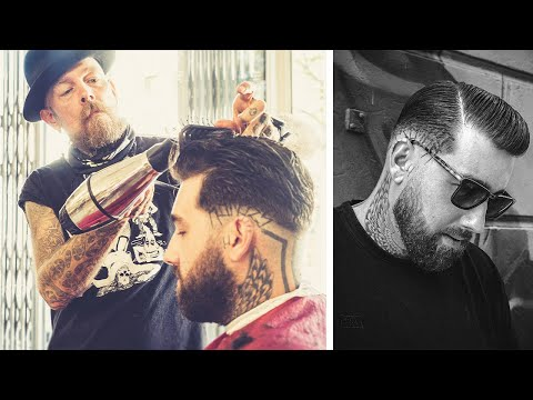 all-clipper-over-comb:-beard-trim-and-classic-skin-fade-by-the-butcher