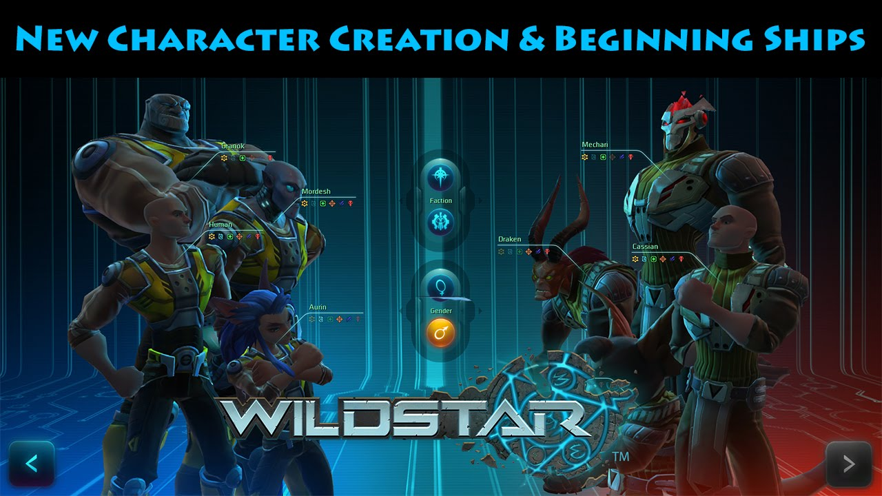 WildStar - New Character Creation & Beginning Ships - YouTube
