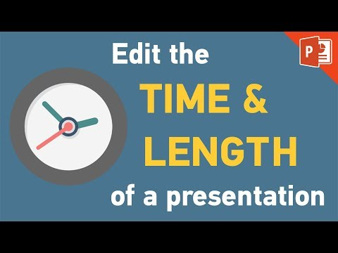 PowerPoint 2013 | How to set time duration & edit slide lenght tutorial