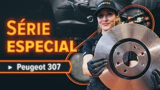 Como substituir discos de travão dianteiros no PEUGEOT 307 SW [TUTORIAL AUTODOC]