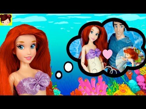 Historias de  Sirenita Ariel con Muñecas Barbie - Embarazada y Cuidando a su Bebe Estrella