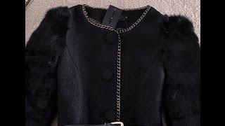 видео Пальто женское из  меха кролика