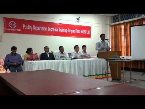 TONGWEI FEED MILL BD LTD. Poultry department training speech By Krishibid Md. Rafiqul Islam Shuvo
