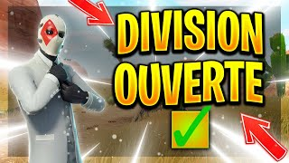 RAZ PASSE LA DIVISION OUVERTE!!! (FORTNITE BATTLE ROYALE)