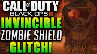 Black ops 3 Zombie Glitches - Shadows Of Evil Invincible Zombie Shield Glitch! (BO3 Glitches)