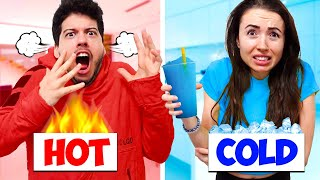 Eating Only HOT vs COLD Food for 24 Hours! (Challenge)