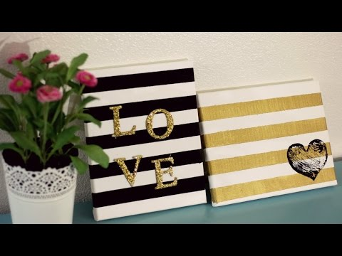 Diy cuadros para decorar tu cuarto sala youtube - Cuadros pequenos para decorar ...