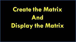 C-Programm Für Das Erstellen Der Matrix Und Die Matrix || C-Programm Für Die Matrix Erstellen