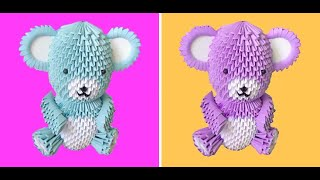 3d Origami Teddy Bear Tutorial - Part 1
