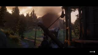 RED DEAD REDEMPTION 2 relaxing train ride with music (Pt. 3)
