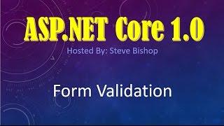 36 ASP NET Core 1 0 & MVC Form Validation