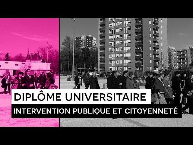 [FORMATION] : DU Intervention publique et citoyenneté