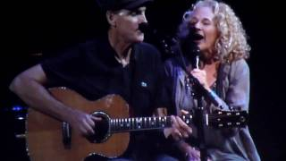 James Taylor and Carole King sing You Can Close Your Eyes