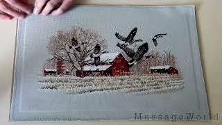 Как стирать и гладить вышивку? Как оформлять вышивку? Winter Geese (Dim) ЗАВЕРШЕН.(Как стирать и гладить вышивку? Как оформлять вышивку? Законченная работа от Дименшнз http://www.msmassago.com/embroidery/..., 2013-07-03T17:47:00.000Z)
