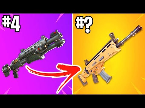FORTNITE FANS RANK ALL GUNS FROM WORST TO BEST!