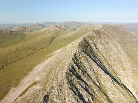 Ben Mor Coigach ridge to The Fiddler by drone 5/06/16