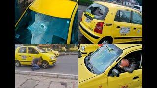 Taxistas atacaron a otros del gremio que trabajaron y no se unieron al paro - Noticias Caracol